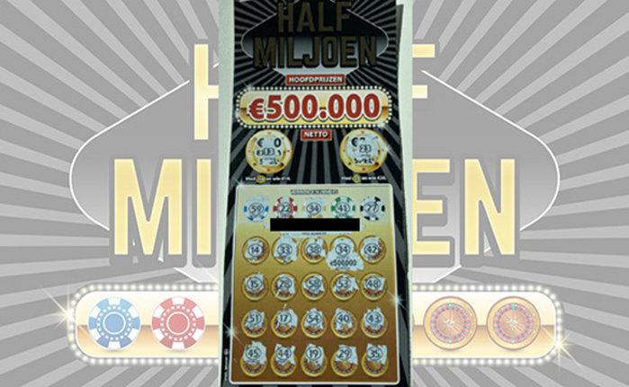 Het winnende lot van €500.000,-!