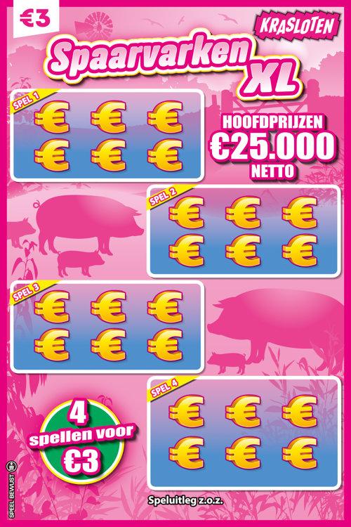 Spaarkvarken XL Kraslot