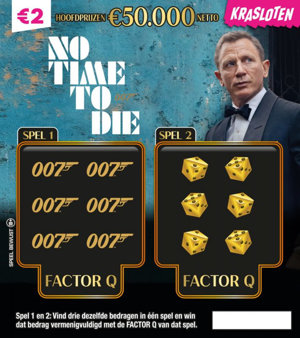James Bond No Time To Die Hoofdprijzen €50.000 netto