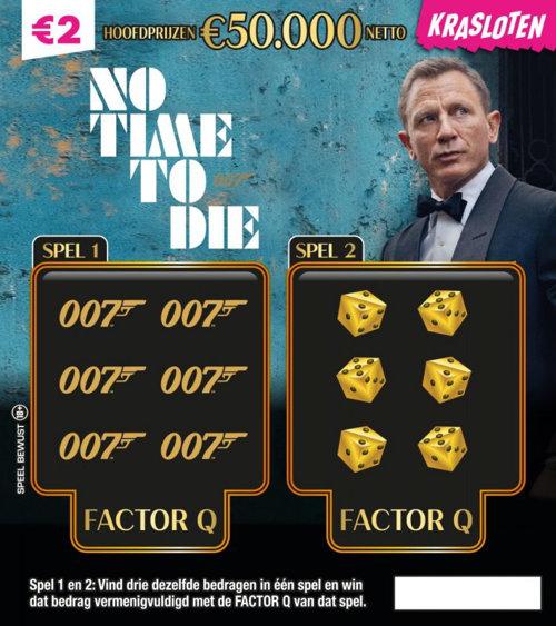 James Bond No Time To Die Hoofdprijzen €50.000 netto