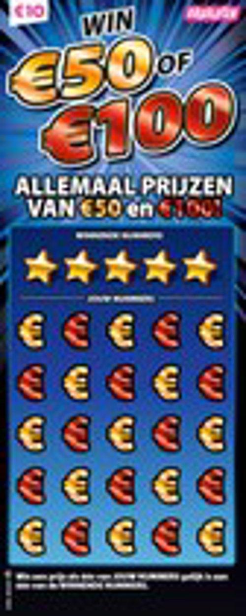 Win 50/100 Allemaal prijzen van €50 en €100