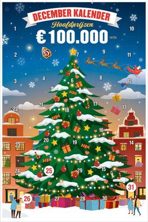 December Kalender 2019 Hoofdprijzen €100.000