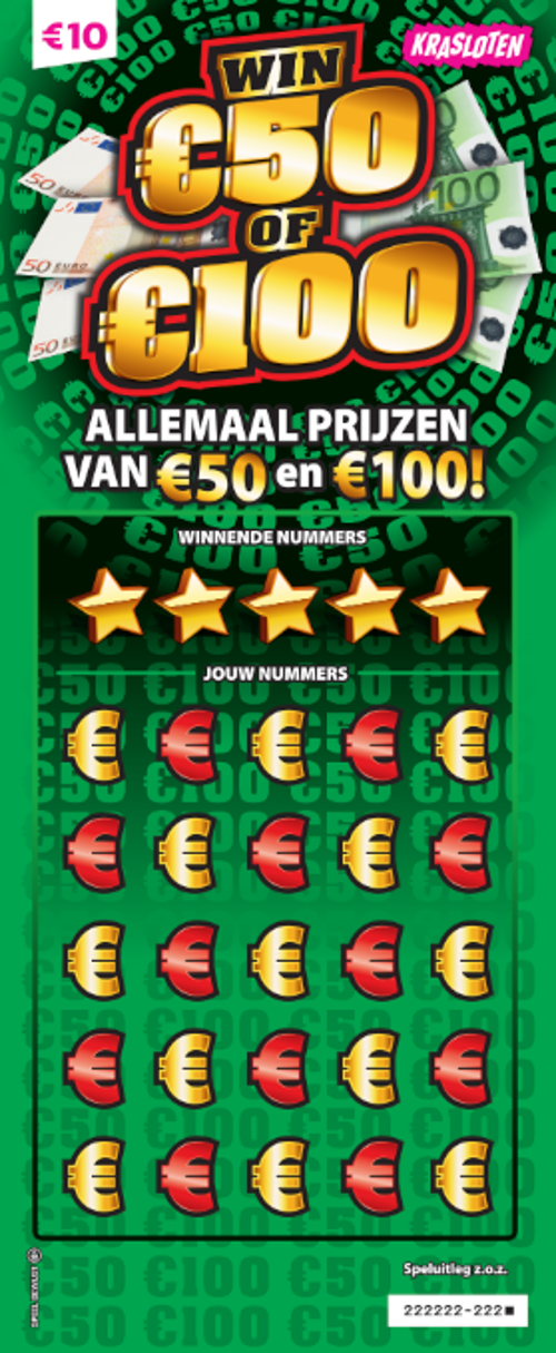 Win €50 of €100