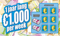 1 jaar lang €1.000 netto per week