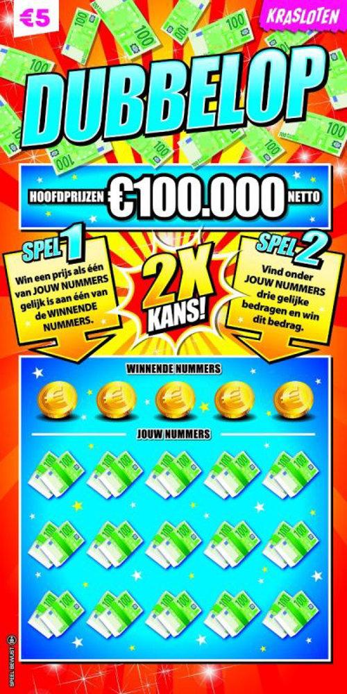 Dubbelop Hoofdprijzen €100.000 netto